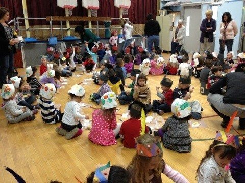 Tom Thumb students learn about Thanksgiving