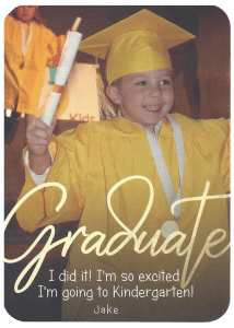 jake's graduation at Tom Thumb Preschool class of 2018