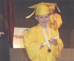 jake's graduation getting the diploma at tom thumb preschool class of 2018