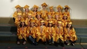 tom thumb preschool students graduation