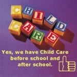 children play-blocks spelling out childcare