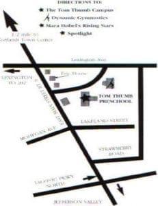 local map of tom thum campus