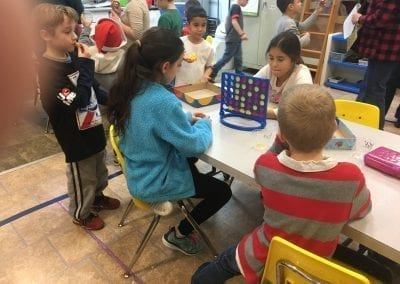 kids playing games at stay and play club after school program