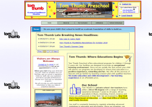 2011 Tom Thumb Preschool Website