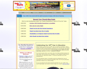 Current Tom Thumb Preschool Website