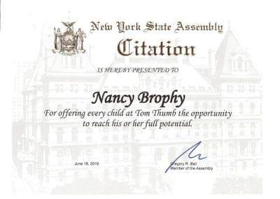 New York State Assembly Citation