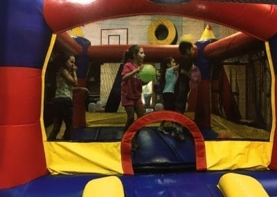 tom thumb summer camp boucing castle