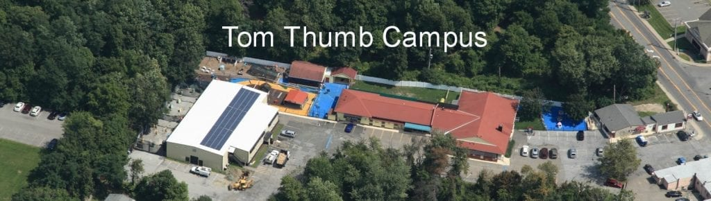 aerial view of the Tom Thumb Campus