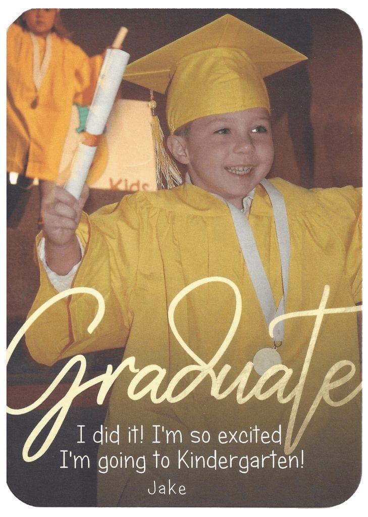 jake's graduation at Tom Thumb Preschool class of 2018