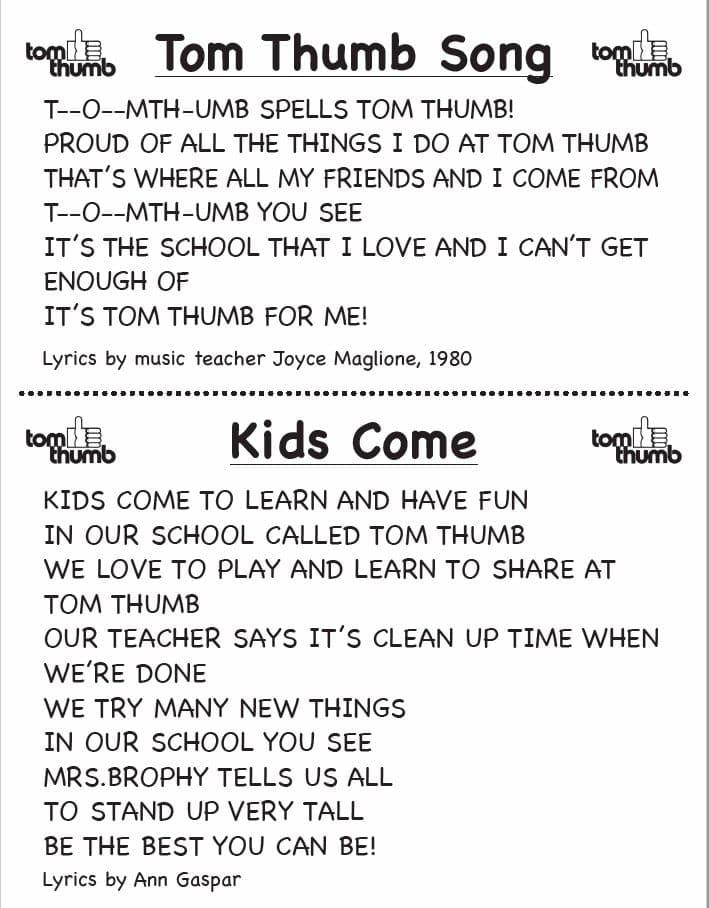 om Thumb Preschool and Kids Come Song lyrics