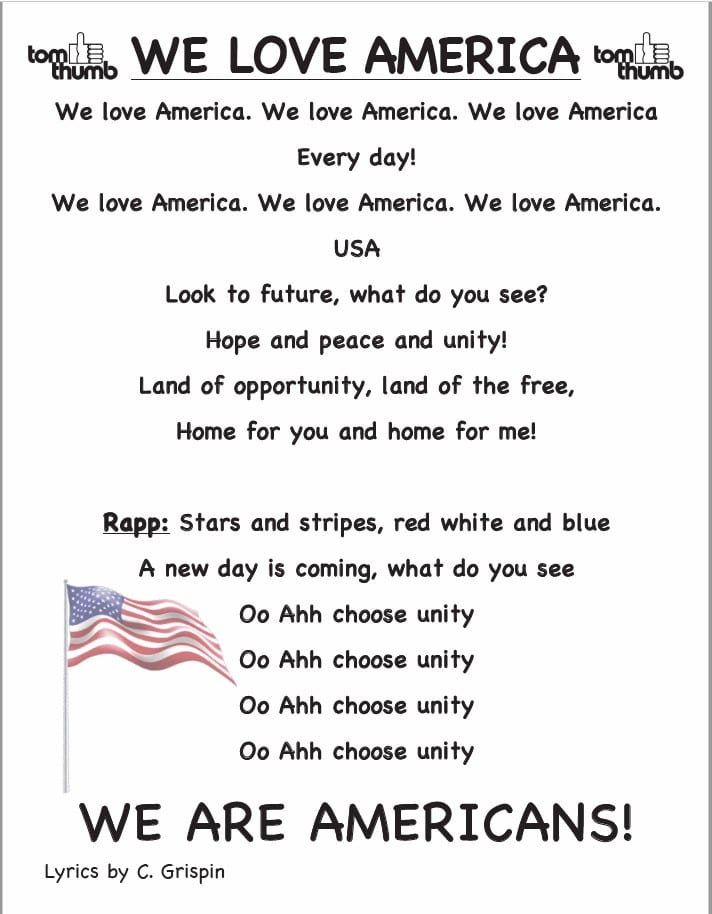 we love america lyrics