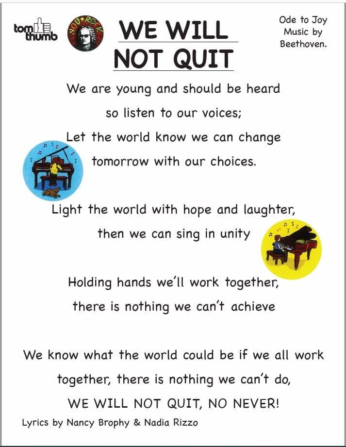 We Will Not Quit Lyrics