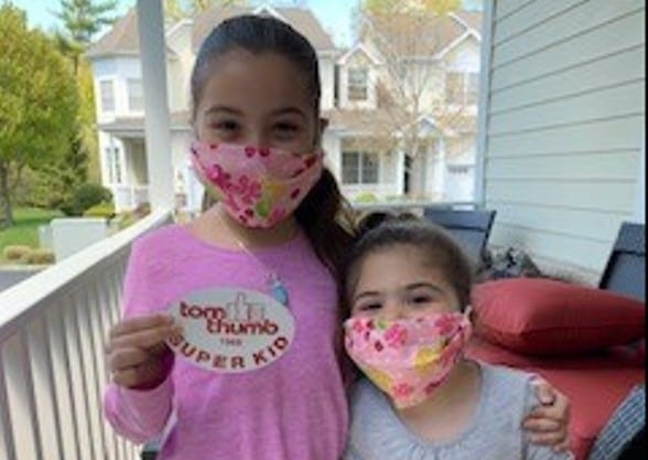 Gianna and Sabrina Wearing Masks