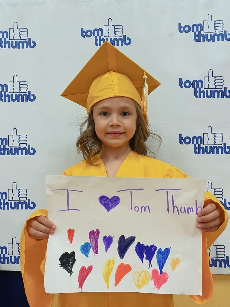 tom thumb student at graduation